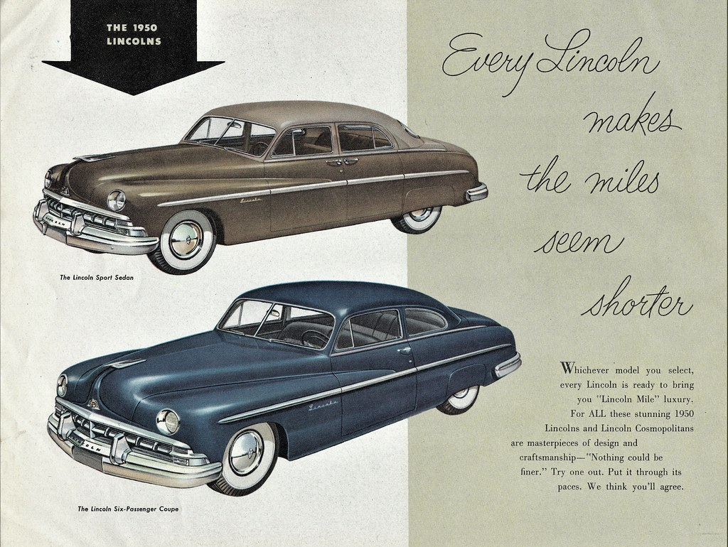 The Worlds Best Photos Of 1950 And Lincoln Flickr Hive Mind 1950s Cars Lincolns Aldenjewell Tags Sport Sedan Six Passenger Coupe Brochure