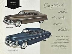 The 1950 Lincolns (aldenjewell) Tags: 1950 lincoln sport sedan six passenger coupe brochure