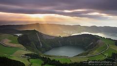 Boca do inferno (Obikani) Tags: bocadoinferno lagoadocanario saomiguel azores açores portugal volcano volcán crater landscape nature sunset amazing light water clouds miradouro lagoa canonikos