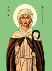 Saint Cannera icon (CatholicArtist) Tags: saint cannera canera canaire cainder st irish female feminism scattery island bantry hermit nun abbess medieval icon celtic saints orthodoxy ireland virgin convent cork clare senan shannon river