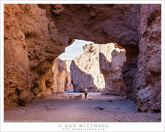 Hiker, Desert Canyon, Natural Bridge (G Dan Mitchell) Tags: natural bridge arch canyon desert deathvalley national park hiker woman person outdoors walk nature landscape california usa north america