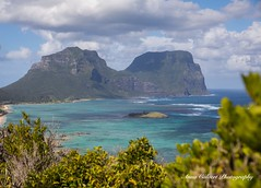 The Lagoon, Lord Howe Island (Anna Calvert Photography) Tags: australia lordhoweisland adventure island landscape nature outdoors scenery sunrise beach lordhowe rocks surf dawn water lagoon mountgower mountlidgbird kim'slookout