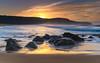 Beauty of the Beach at Sunrise (Merrillie) Tags: daybreak sunrise cloudy australia nsw centralcoast clouds sea newsouthwales rocks earlymorning morning water landscape ocean nature sky waterscape coastal seascape outdoors killcarebeach dawn coast killcare waves
