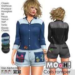 Caris romper (Dalriada Delwood (MOoH!)) Tags: gift free freebie garage fair sl second life mooh