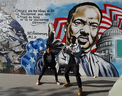 Croyances et réalisations (Jeanne Menjoulet) Tags: rueordener paris france mlk martinlutherking quote streetart black people believe dreams yourself true croyez rêves