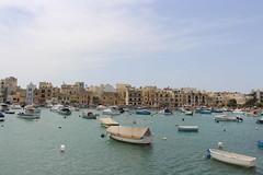 dienstag an der ostküste (ingejahn) Tags: birzebbugia marsakslokk malta ostküste freihafen meer mittelmeer schiffe boote