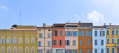 parma colors (poludziber1) Tags: street streetphotography skyline summer city colorful cityscape color parma building architecture yellow italia italy