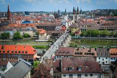 Würzburger Altstadt (theilheimer) Tags: tiltshift altstadt stadt würzburg mainfranken unterfranken franken brücke altemainbrücke