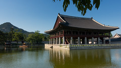 경복궁  - Gyeongbokgung Palace Seoul, Korea (christophbieniek (coming back!)) Tags: korea seoul gyeongbokgung palace king mountains top 10 sights 경복궁