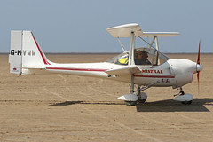 G-MVWW (QSY on-route) Tags: gmvww lancashire landing 2018 fly in knott end beach airfield 09062018