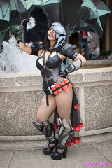 Burlesque Reaper cosplay (The Doppelganger) Tags: burlesque reaper overwatch videogame cosplay cosplayer sexycosplay genderbent fishnets heels fishnetstockings zenkaikon zenkaikon2018