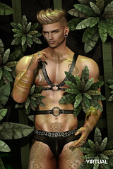 Savage (Satuex Resident) Tags: savage second life sl virtual secondlifevirtual secondlifefashion satuex angel king noche dubaievent dubai nipples mesh bento brief briefs harness ait pose wrong dappa tattoo mons 3d backdrop photobooth photoshoot doux letre skin body male men man guy gay dude twink blonde blogger blogging blog wordpress hair ear equal10event equal10 rings ysoral