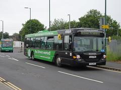 Nottingham City 509 Arkwright Street (Guy Arab UF) Tags: nottingham city 509 fg52wfu scania cn94ub omnicity driver trainer bus arkwright street buses