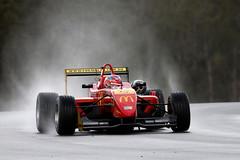 Formula 3 (Alan McIntosh Photography) Tags: rain wet spray red car race formula 3 morgan park