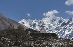 Kyanjin Gompa (Henry der Mops) Tags: stupa nepal asien trekking langtangtrekgosainkund 90a7362 monastery kyanjingompa langtanghimal langtangnationalpark himalaya bergkette berge asia mountainrange mountains canoneos7dmarkii henrydermops mplez gangchempo