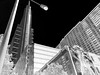 lighting the sky in black (BlogKing) Tags: comcast2 philly bw centercity diagonals infrared sky streetlamp