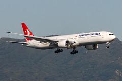 TURKISH AIRLINES B777-300ER TC-LJG 003 (A.S. Kevin N.V.M.M. Chung) Tags: aviation aircraft aeroplane airport airlines plane spotting boeing b777300er b777 worldliner landing hkg