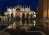Saint Mark's Basilica at night (ORIONSM) Tags: saint marks basilica venice italy square night reflection water floor blur hour tourists people sony rx100mk3