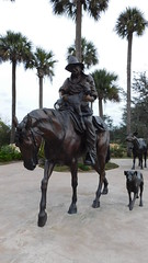 Life size art.. (saltlifebeach5443) Tags: bronze statues lifesize country horse rider dog cow art cowboy calf realistic landscape steer saddle themed artistic sculpture sculptures details detailed