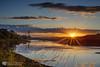 Boyne sunset (mythicalireland) Tags: sunset setting sun river water boyne reflection valley sky clouds evening dusk golden hour grass landscape town louth ireland nikon d3x