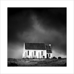 Church at Lochailort (from the East) (tkimages2011) Tags: mono monochrome church lochailort scotland highlands sky landscape moody outdoors outside architecture building white ardnish polnish buttress