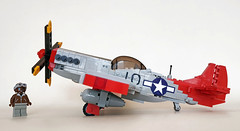 "North American P-51D ""Mustang"" (John C. Lamarck) Tags: lego ww2 wwii war jie star aircraft plane avion fighter mustang p51d north american 1944 brickmania tuskegee northamerican oenux clone military model"