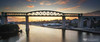 Boyne Viaduct at sunset (mythicalireland) Tags: boyne viaduct bridge drogheda river valley sunset setting sun clouds evening sky dusk reflection span arches louth ireland architecture 19th century building great famine iron railway dublinbelfast