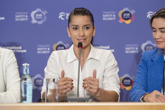 "Liza Castillo speaks at the ""Women In Movement"" initiative launch"