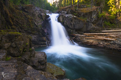 Silver Falls in Summer (RobertCross1 (off and on)) Tags: a7rii alpha cascaderange cascades emount fe1635mmf4zaoss ilce7rm2 lewis longexposure mountrainier mountrainiernationalpark mtrainier mtrainiernationalpark ohanapecosh ohanapecoshriver pacificnorthwest packwood silverfalls sony wa washington cascade creek forest fullframe landscape logs mirrorless moss mountains river rocks stream trees volcano water waterfall