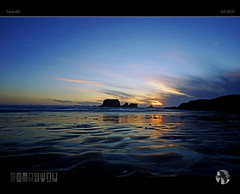 Windswept World (tomraven) Tags: wind cold winter sea sky foam clouds sun island reflections silhouette tomraven aravenimage q22018 sony a65