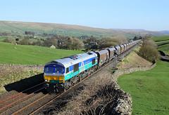 66711 Horton in Ribblesdale 19/4/18 (Ram 69) Tags: 66711 shed 6d77 hortoninribblesdale class 66settle carlisle railway sc