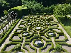 Moseley Old Hall, Knot Garden (jacquemart) Tags: moseleyoldhall knotgarden box hedge renaissance charlesii tudormansion nationaltrust wolverhampton westmidlands