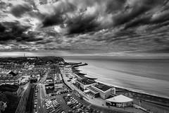 Saint-Valéry-en-Caux, Côte d'Albâtre (Seine-Maritime) (Air'L) Tags: nb bw noiretblanc saintvaléryencaux france europe sea mer paysage normandie ciel nuages seinemaritime