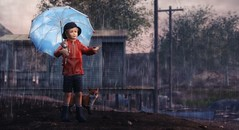 We see the world, not the way it is, but the way we are. (Skippy Beresford) Tags: boy child children kids childhood raindrops rain sunshine imagination exploration compassion kindness friendship love light