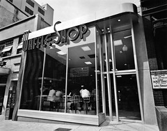 Waffle Shop on 10th Street in Washington, D.C. Exterior of shop from side angle, day. Circa the late 1940s. (polkbritton) Tags: theodorhorydczak 1940s washingtondchistory architecture libraryofcongresscollections streamlinemoderne