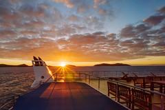 Island Sunrise (scotty-70) Tags: laowa fiji fijiprincess sunrise boat ship sun cloud