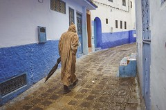 After the rain (S.Pompei photo) Tags: chefchouen thebluepearl maroc morocco africa travelphotography travelers traveling people northafrica ontheroad streetphotography stphotographia rain streetlife street