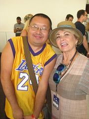 David Sheng with actress Roseanne Barr. (david sheng) Tags: roseannebarr celebrities abc 2012uspresidentialelection