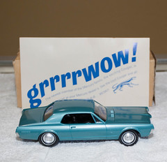 1967 Mercury Cougar Model Car (coconv) Tags: car cars vintage auto automobile vehicles vehicle autos photo photos photograph photographs automobiles antique picture pictures image images collectible old collectors classic promotional dealership plastic scale promo model smp amt mpc johan revell hubley 125 124 banthrico sample kit coupe history historical dealer toy miniature 125th 1967 mercury cougar 67