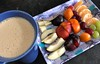 2971 Latte and fruit (Andy - Busy Bob) Tags: aaa apple ccc coffee coffeelatte fff fork fruit ggg grape lll mmm mug ooo orange pear photostream plum ppp sharonfruit sss