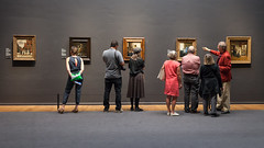 Looking at art (pong0814) Tags: canon eos 5dii dslr photography ef35mmf14l indoors prime rijksmuseum amsterdam netherlands europe travel travelphotography art museum paintings vermeer dutch