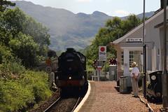 45407 Morar, Scotland (Paul Emma) Tags: 45407 steamtrain train 45157 jacobite railtour morar scotland railway railroad