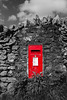 Selective colour 21/52 (rph10uk) Tags: week212018 52weeksin2018 weekstartingmondaymay212018 d5200 postbox red selectivecolour lakedistrict blackandwhite