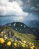 Rainbow instead of Thunderbolt (noberson) Tags: mountains rainbow switzerland gantrisch naturpark bern oberland landscape green spring flowers bokeh storm thunder clouds dramatic nikon d750 noberson thewanderco