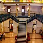 Iowa State Capital ~ Rotunda ~ Des Moines - Mural - Staircase thumbnail