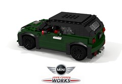 Mini MkIII JCW Convertible (2016) (lego911) Tags: mini mkiii new 2016 2010s convertible cabriolet bmw fwd jcw john cooper works gb british auto car moc model miniland lego lego911 ldd render cad povray