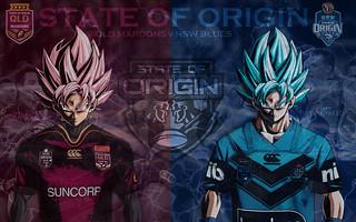 State of Origin (Goku Black vs Goku) Jersey Wallpaper by Sunnyboiiii