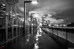 Melbourne (Bill Thoo) Tags: sandridgebridge melbourne victoria australia yarrariver night longexposure landscape city cityscape urban citylights bridge river monochrome bnw blackandwhite sony a7rii ilce7rm2 zeiss batis 18mm