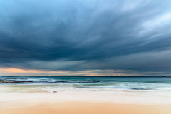 Cloudy Morning Seascape (Merrillie) Tags: daybreak wamberalbeach sand sunrise sea centralcoast nature water morning surf overcast wamberal weather newsouthwales waves earlymorning nsw australia beach ocean landscape waterscape sky coastal clouds outdoors seascape dawn coast cloudy seaside