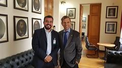 Visita - André Avelino, assessor do Deputado Romanelli